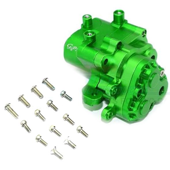 GPM Racing Aluminum Center Gearbox (17Pcs) Set Green : TRX-4 / TRX-6