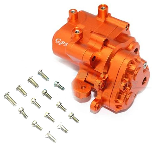 GPM Racing Aluminum Center Gearbox (17Pcs) Set Orange : TRX-4 / TRX-6