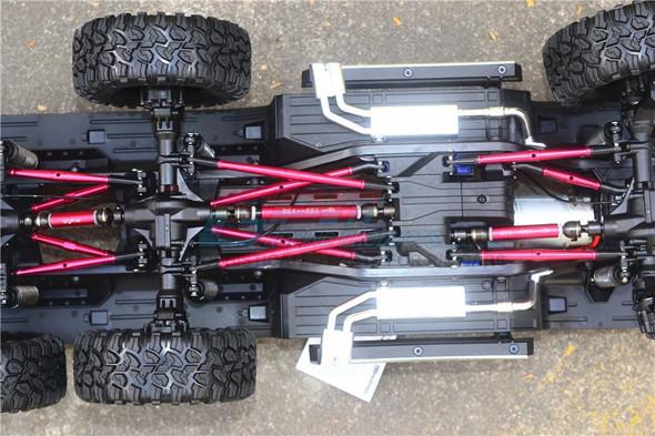 GPM Steel+Aluminium Front + Center + Rear CVD Drive Shaft Blue : TRX-6