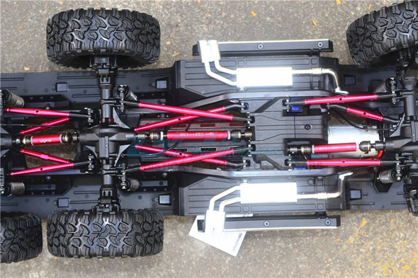 GPM Steel+Aluminium Front + Center + Rear CVD Drive Shaft Grey : TRX-6