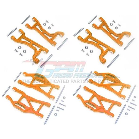 GPM Alum Full Suspension Arm Set Front + Rear & Upper + Lower Arms Orange : Maxx