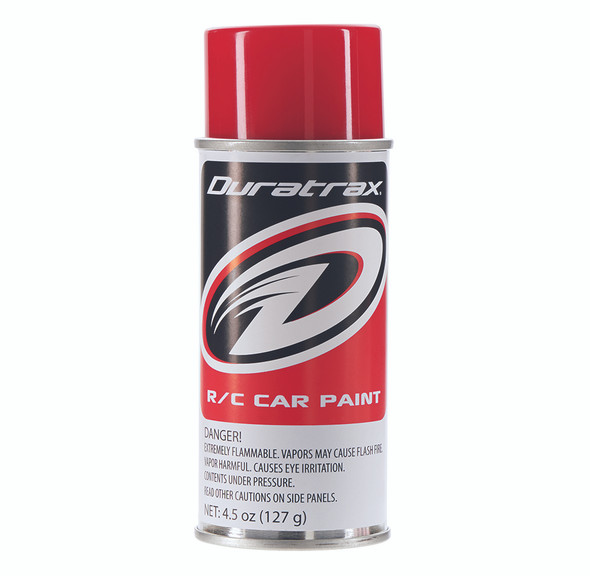 Duratrax PC254 Polycarbonate Spray Can Racing Red RC Bodies 4.5 oz / 127g