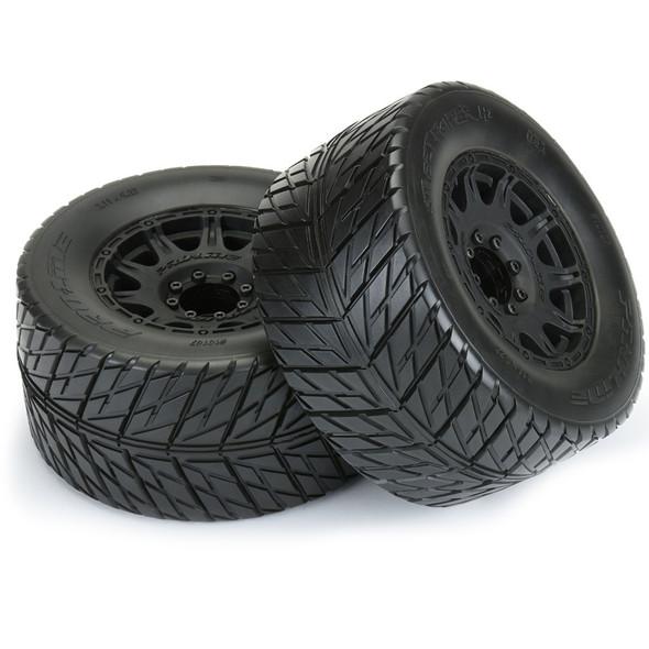 "Pro-Line 10167-10 Street Fighter HP 3.8"" Street BELTED Tires Mounted w/ Black Wheels"
