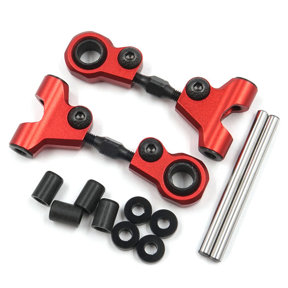 Yeah Racing TATT-036RD Alum Front Upper Arm Set Red : Tamiya TT-01/ TT-01E