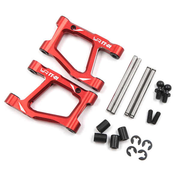 Yeah Racing TATT-038RD Alum Rear Lower Arm Set Red : Tamiya TT-01/ TT-01E