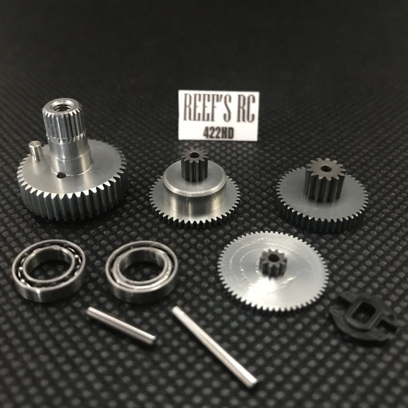 Reef's RC 422HD Gear Replacement Set  w/ Dual Bearings REEFS06