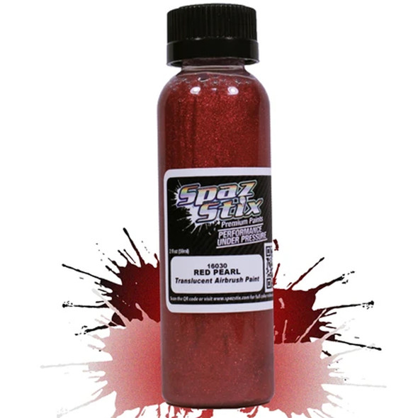 Spaz Stix - Red Pearl Airbrush Ready Paint 2oz Bottle