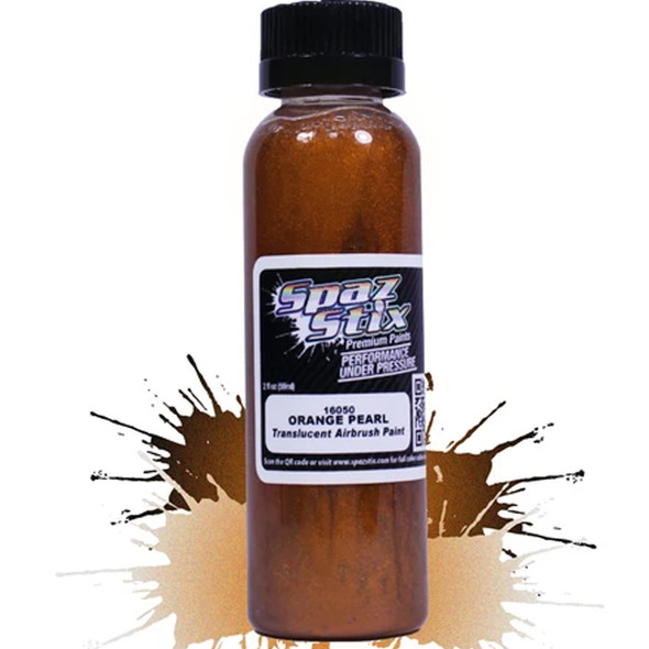 Spaz Stix - Orange Pearl Airbrush Ready Paint 2oz Bottle