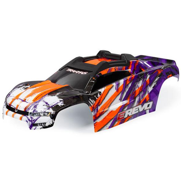 Traxxas 8611T Purple Body w/ Front & Rear Body Mounts : E-Revo 2.0 VXL