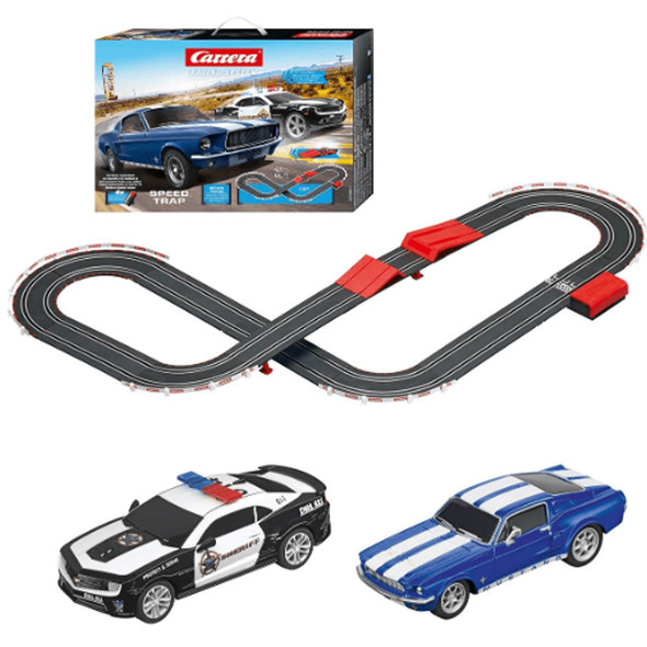 Carrera 63504 Speed Trap Battery Operated 1:43 Scale Slot Car Racing Track Set