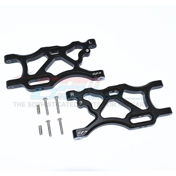 GPM Racing Aluminum Rear Lower Arms Set Black : Limitless / Infraction / Typhon