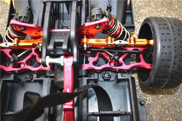 GPM Racing Aluminum Rear Lower Arms Set Red : Limitless / Infraction / Typhon