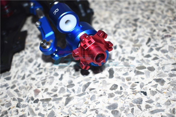GPM Racing Aluminum Wheel Hex +6mm + Wheel Lock (12Pcs) Blue : Limitless