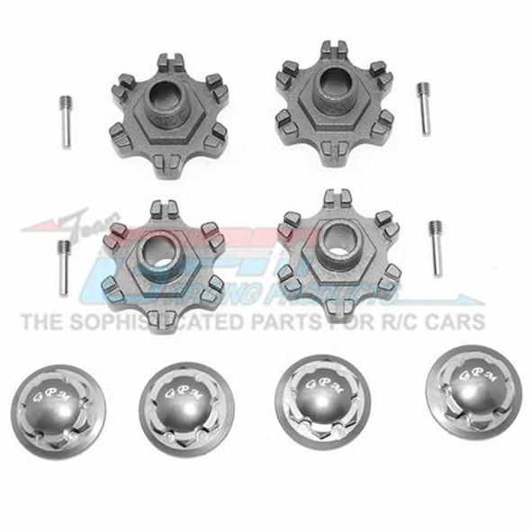 GPM Racing Aluminum Wheel Hex +6mm + Wheel Lock (12Pcs) Grey : Limitless