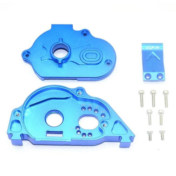 GPM Racing Alum Rear Gear Protection Motor Mount Blue : Granite 4X4 BLX Mega