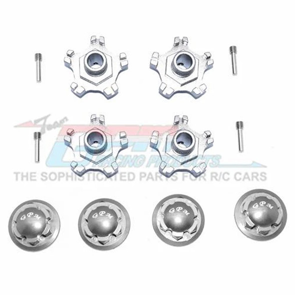 GPM Aluminum Wheel Hex +6mm + Wheel Lock - (8Pcs) Set Grey : Infraction