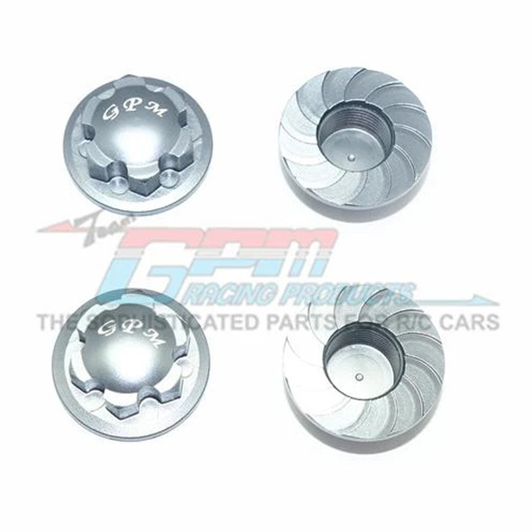 GPM Racing Alum Wheel Lock Grey : Kraton / Senton / Typhon / Talion / Outcast