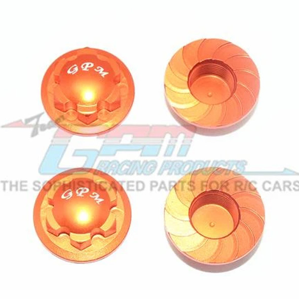 GPM Racing Alum Wheel Lock Orange : Kraton / Senton / Typhon / Talion / Outcast