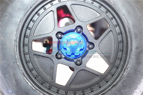 GPM Racing Alum Wheel Lock Silver : Kraton / Senton / Typhon / Talion / Outcast