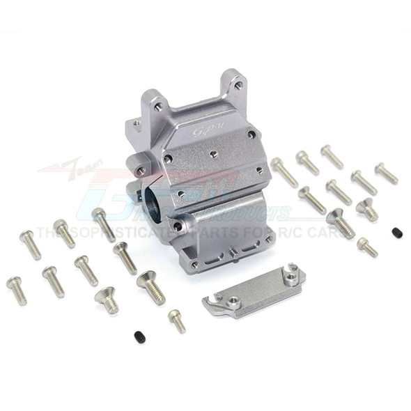 GPM Racing Alum Front/Rear Gear Box Grey : Kraton / Senton / Typhon / Talion