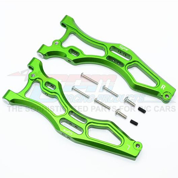 GPM Racing Aluminum Front Lower Arms Green : Kraton / Outcast / Notorious 6S BLX