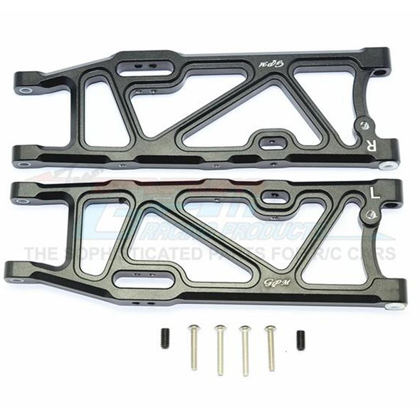 GPM Racing Aluminum Rear Lower Arms Black : Kraton / Outcast / Notorious 6S BLX