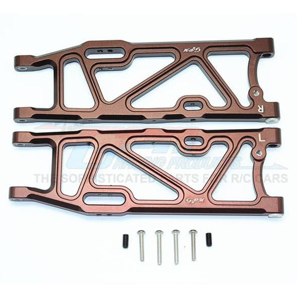 GPM Racing Aluminum Rear Lower Arms Brown : Kraton / Outcast / Notorious 6S BLX