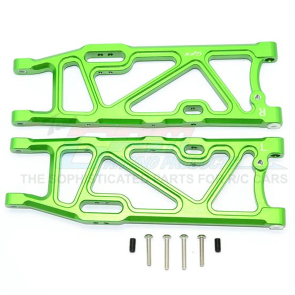 GPM Racing Aluminum Rear Lower Arms Green : Kraton / Outcast / Notorious 6S BLX