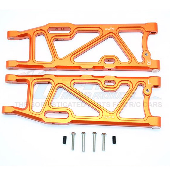 GPM Racing Aluminum Rear Lower Arms Orange : Kraton / Outcast / Notorious 6S BLX