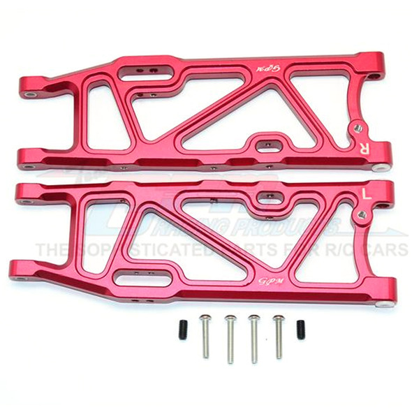 GPM Racing Aluminum Rear Lower Arms Red : Kraton / Outcast / Notorious 6S BLX