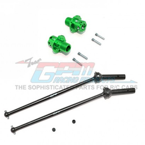 GPM Racing Alum Front CVD+13mm Hex Green : Kraton / Outcast / Notorious