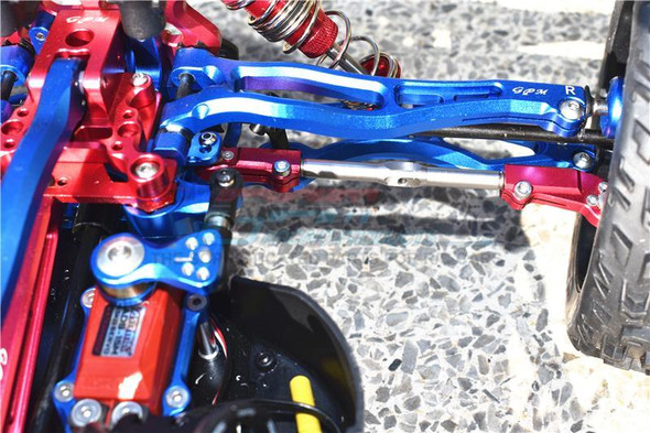 GPM Alum + Stainless Steel Adjustable Front Steering Tie Rod Orange : Kraton / Notorious / Talion
