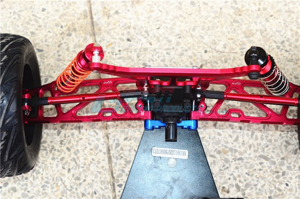 GPM Racing Alum Rear Lower Arms+Rear Knuckle Arms Blue : Kraton / Outcast
