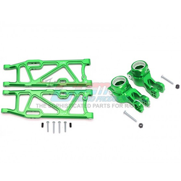 GPM Racing Alum Rear Lower Arms+Rear Knuckle Arms Green : Kraton / Outcast