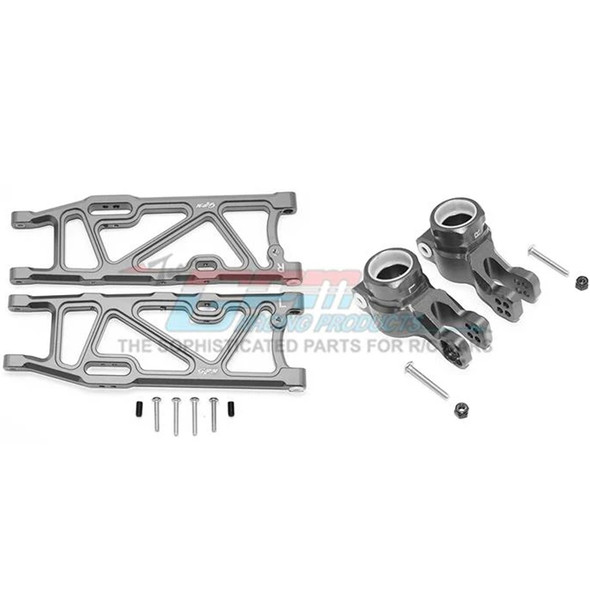 GPM Racing Alum Rear Lower Arms+Rear Knuckle Arms Grey : Kraton / Outcast
