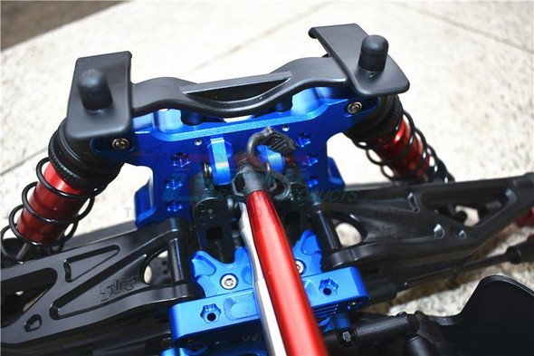 GPM Racing Aluminum Front Shock Mount Blue : 1/5 KRATON 8S BLX Monster Truck