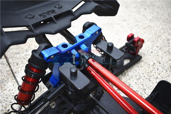 GPM Racing Aluminum Rear Shock Mount Blue : 1/5 KRATON 8S BLX Monster Truck