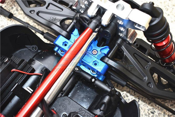 GPM Racing Aluminum Steering Assembly Black : 1/5 KRATON 8S BLX Monster Truck