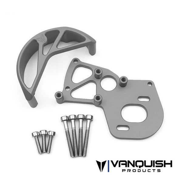Vanquish VPS02212 VS4-10 Motor Mount / Gear Guard Grey Anodized : SCX10