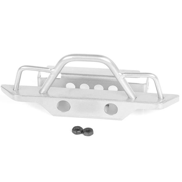 RC4WD VVV-C0546 Steel Front Bumper Silver w/BlackJack Body : Gelande II