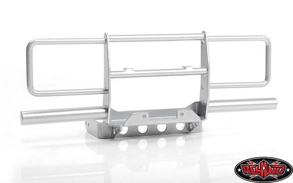 RC4WD VVV-C0949 Oxer Steel Front Winch Bumper Silver w/ IPF Lights : VS4-10 Body