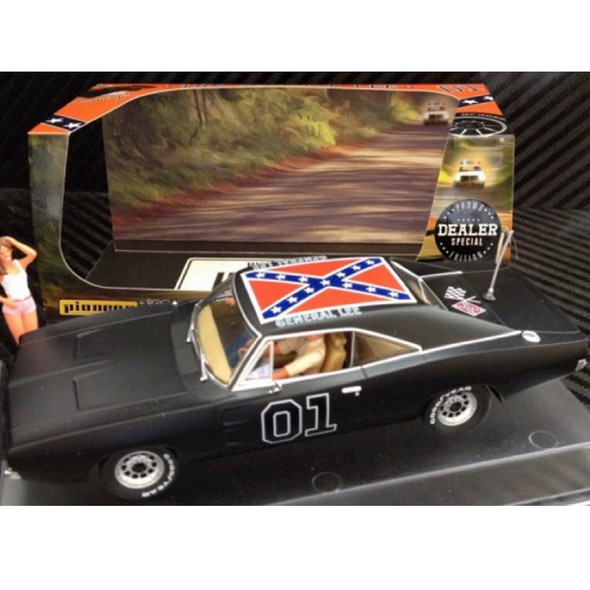 Pioneer P015-DS Dodge Charger Black General Lee Dealer Special Slot Car 1/32 Scalextric DPR