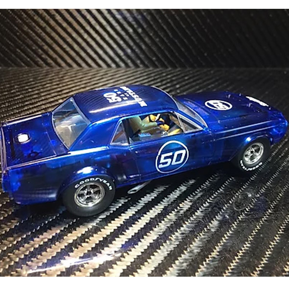 Pioneer P052 '68 Mustang Notchback Blue X-Ray #50 Slot Car 1/32 Scalextric DPR