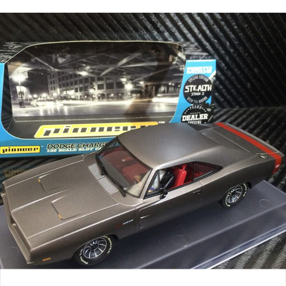 Pioneer P092-DS Dodge Charger 69' Grey STEALTH Dealer Special Slot Car 1/32 Scalextric DPR