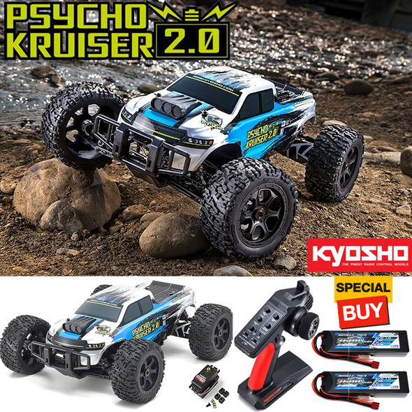 Kyosho 1/8 PSYCHO KRUISER VE 2.0 4WD Monster Truck RTR w/ 2X / 2S Lipo Battery
