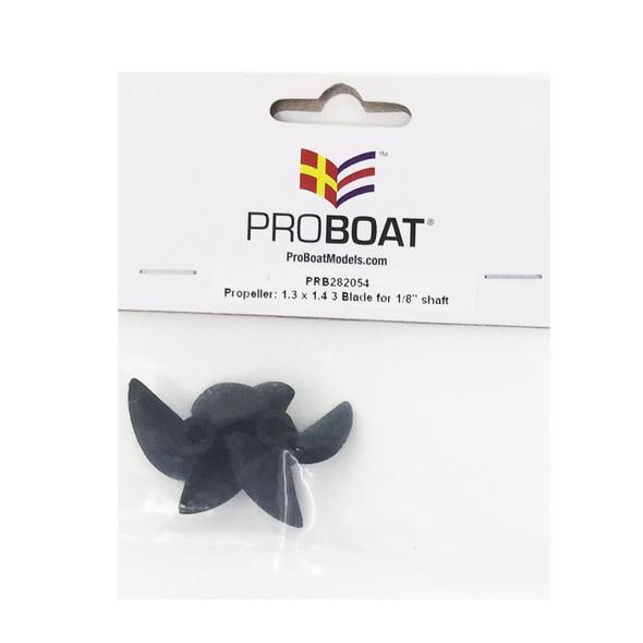 "Pro Boat PRB282054 Propeller 1.3 x 1.4 3 Blade for 1 8"" shaft : Valvryn 25"" F1"