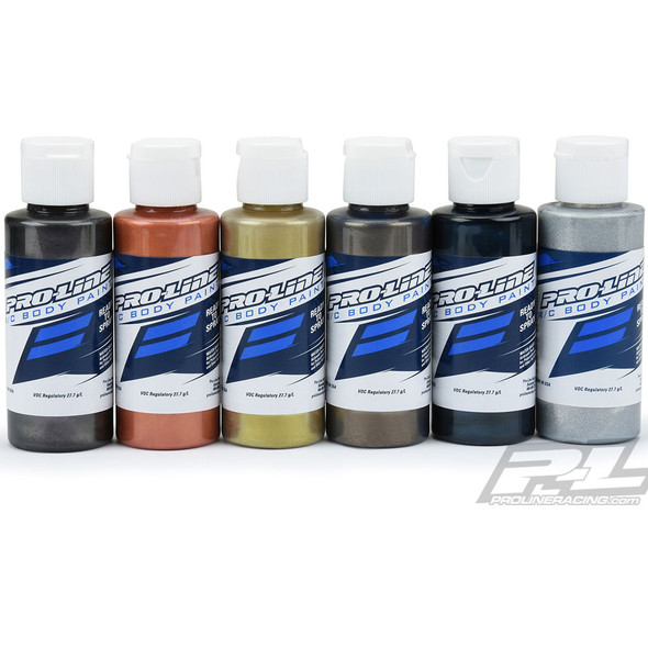 Pro-Line 6323-05 RC Body Airbrush Paint Pure Metal  Set (6 Pack)