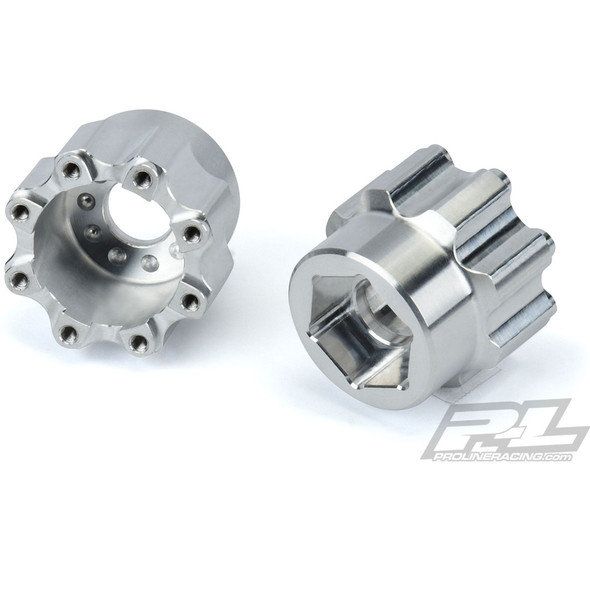 """Pro-Line 6357-00 8x32 to 20mm Aluminum Hex Adapters : Pro-Line 8x32 3.8"""" Wheels"""