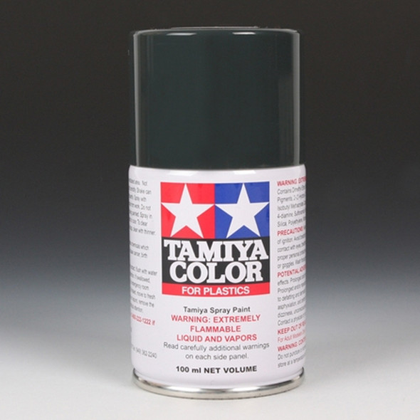 Tamiya TS-82 Black Rubber Lacquer Spray Paint Can 100 ml