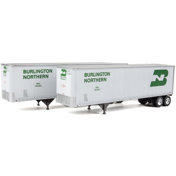 Walthers 949-2510 40' Trailmobile Trailer Burlington Northern 2-Pack HO Scale